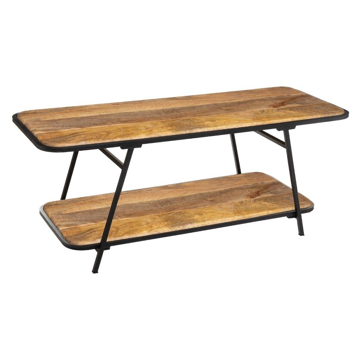 """Atmosphera Table basse """"Kalida"""" en bois de manguier acier"""