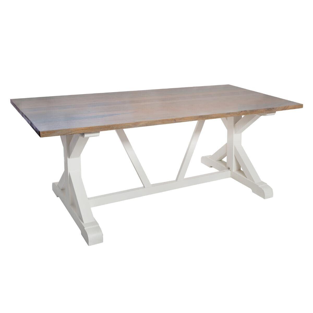 """Atmosphera Table à manger """"Aleria"""" en bois de manguier et acacia"""