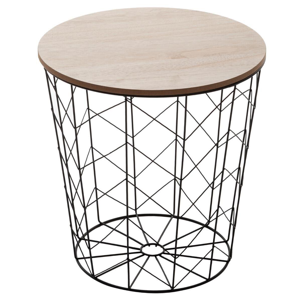 """Atmosphera Table à café Noire """"Kumi"""" en métal"""