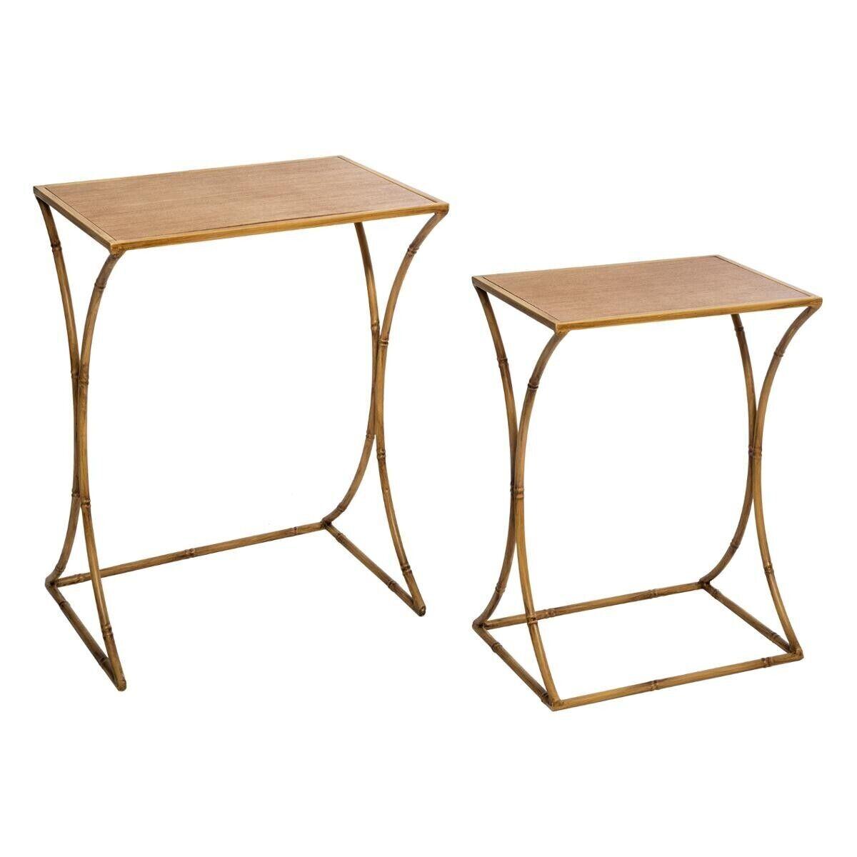 Atmosphera Set de 2 tables d'appoint 'Asco' en métal
