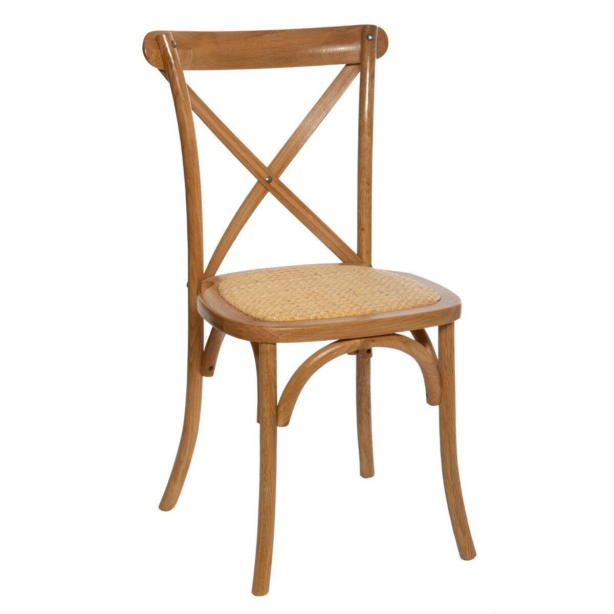 """Atmosphera Chaise de bistrot """"Isak"""" en bois de chêne"""