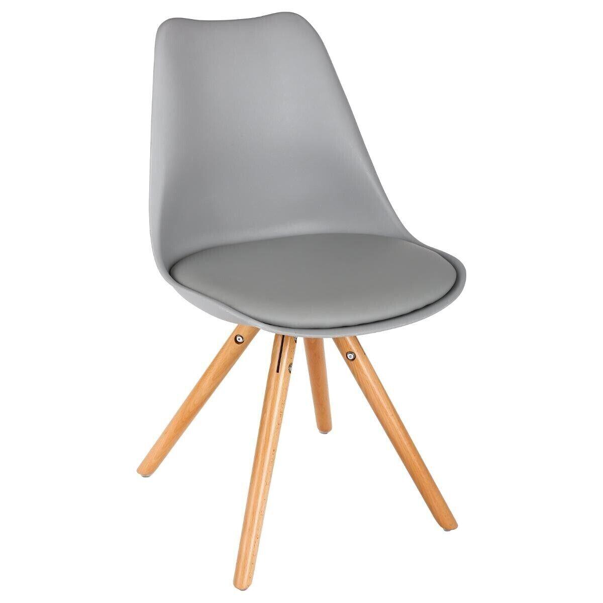 Atmosphera Lot de 2 chaises 'Raku' grises