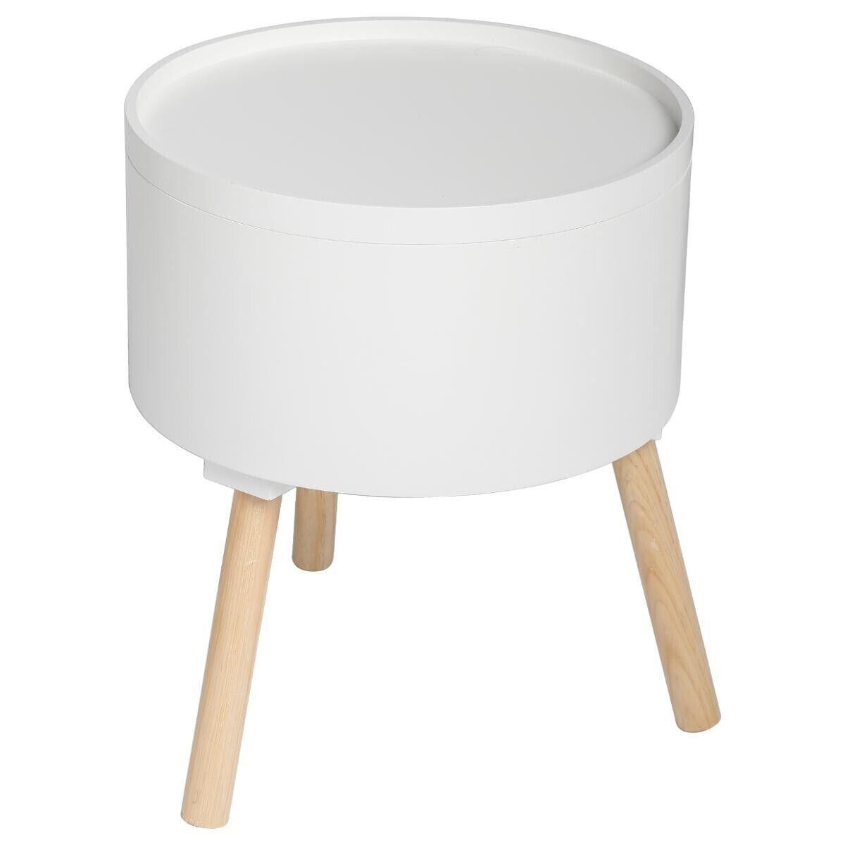 "Atmosphera Table à café coffre Blanc ""Oshi"""