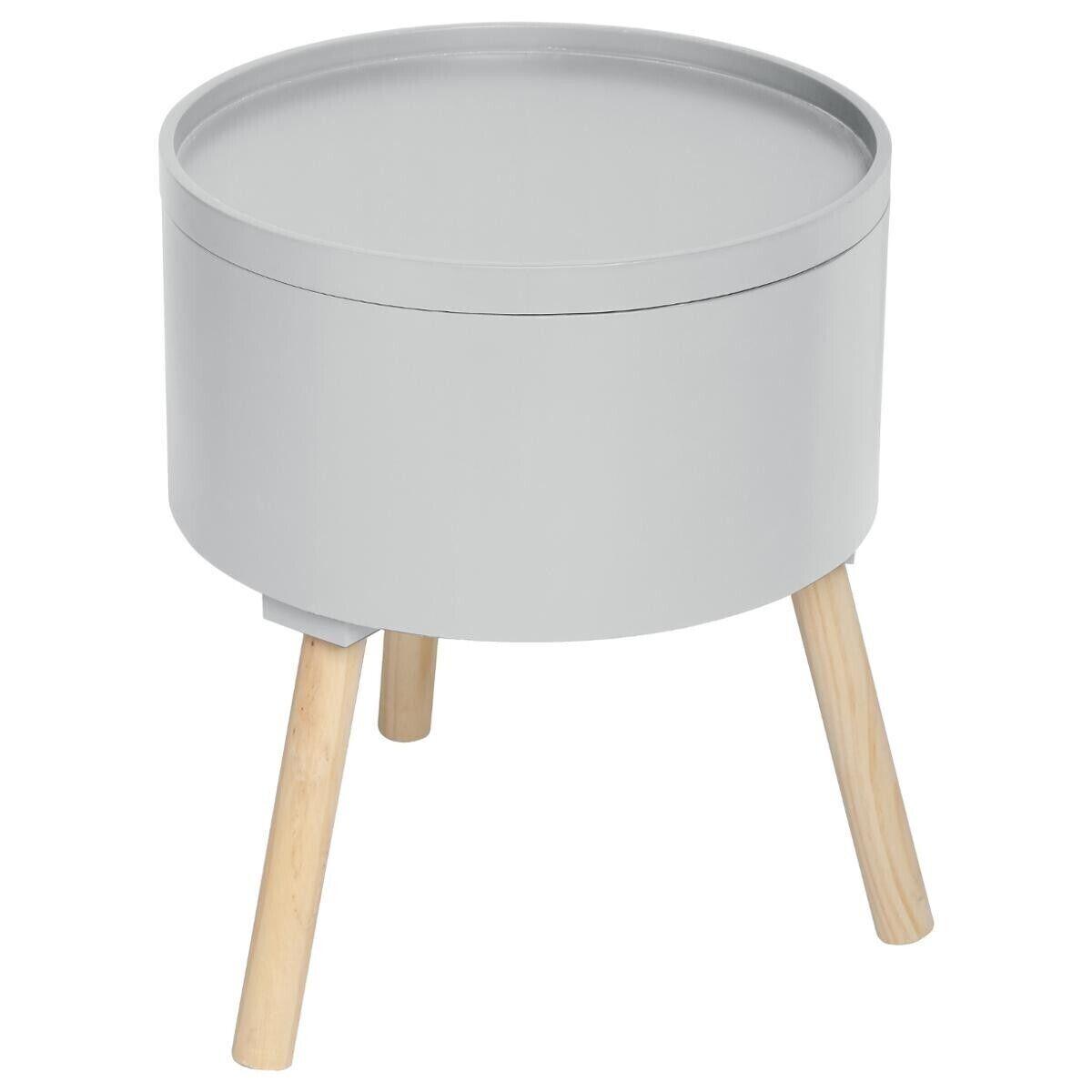 """Atmosphera Table à café coffre Gris """"Oshi"""""""