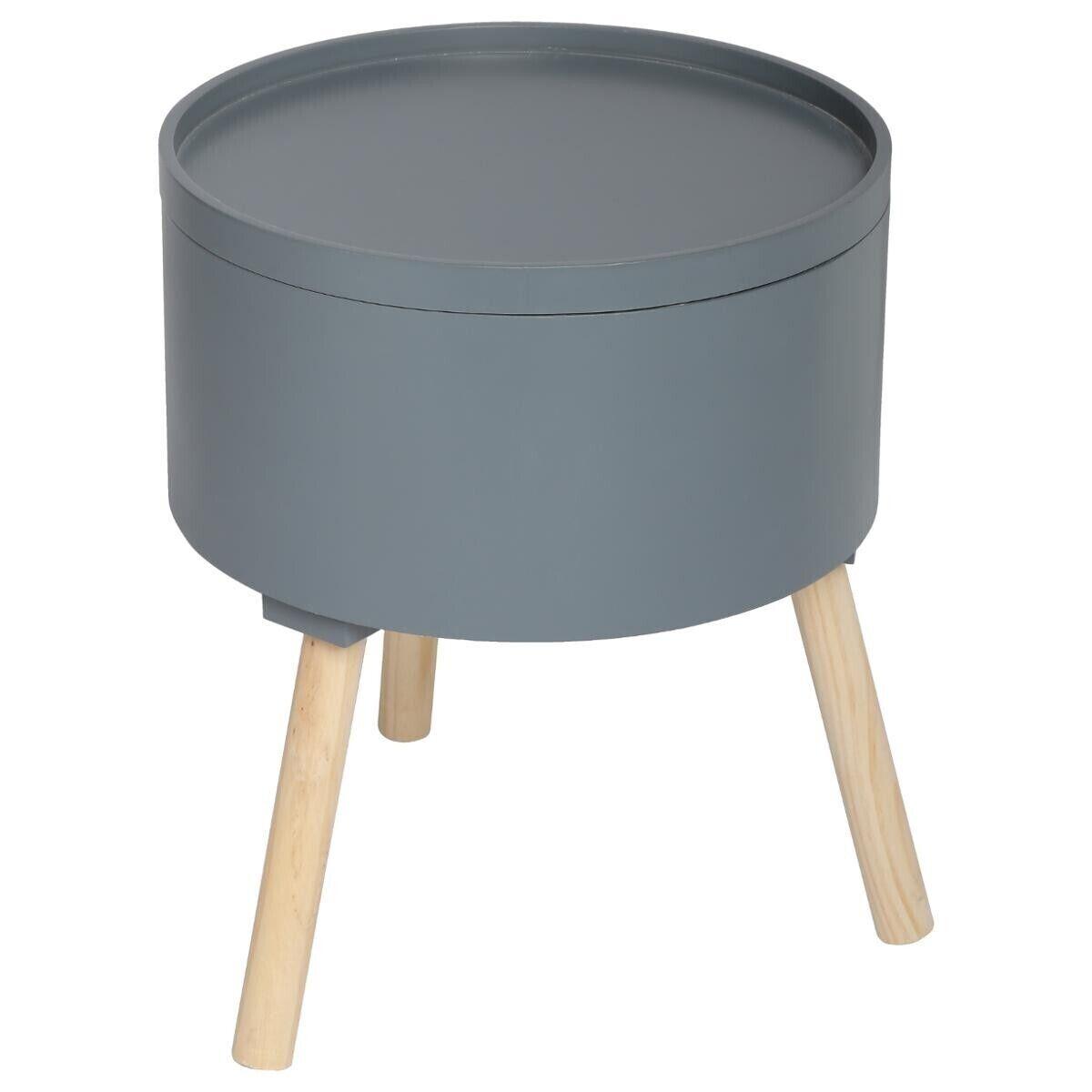 """Atmosphera Table à café coffre Gris foncé """"Oshi"""""""