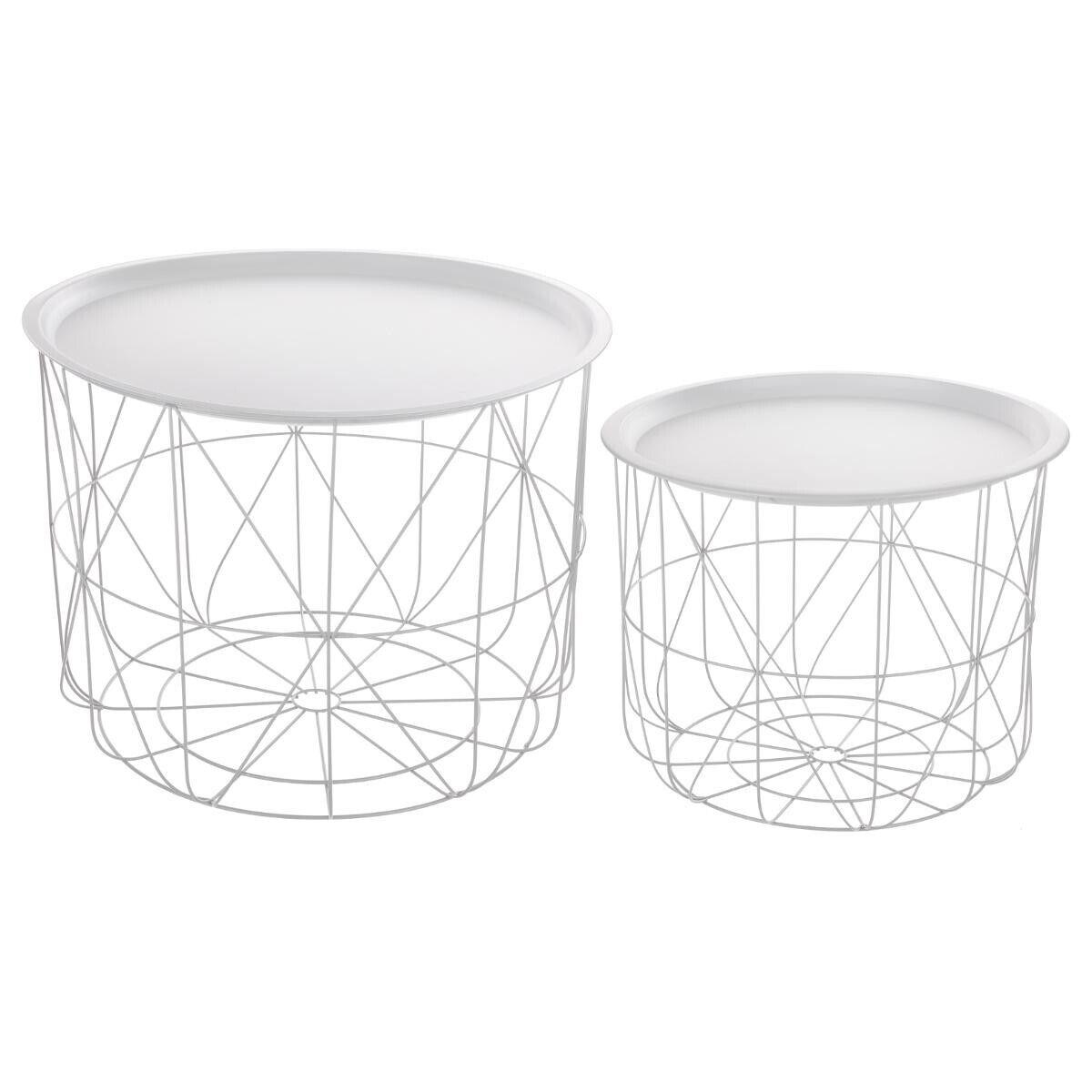 "Atmosphera Table à café blanche ""Matt"" en métal"
