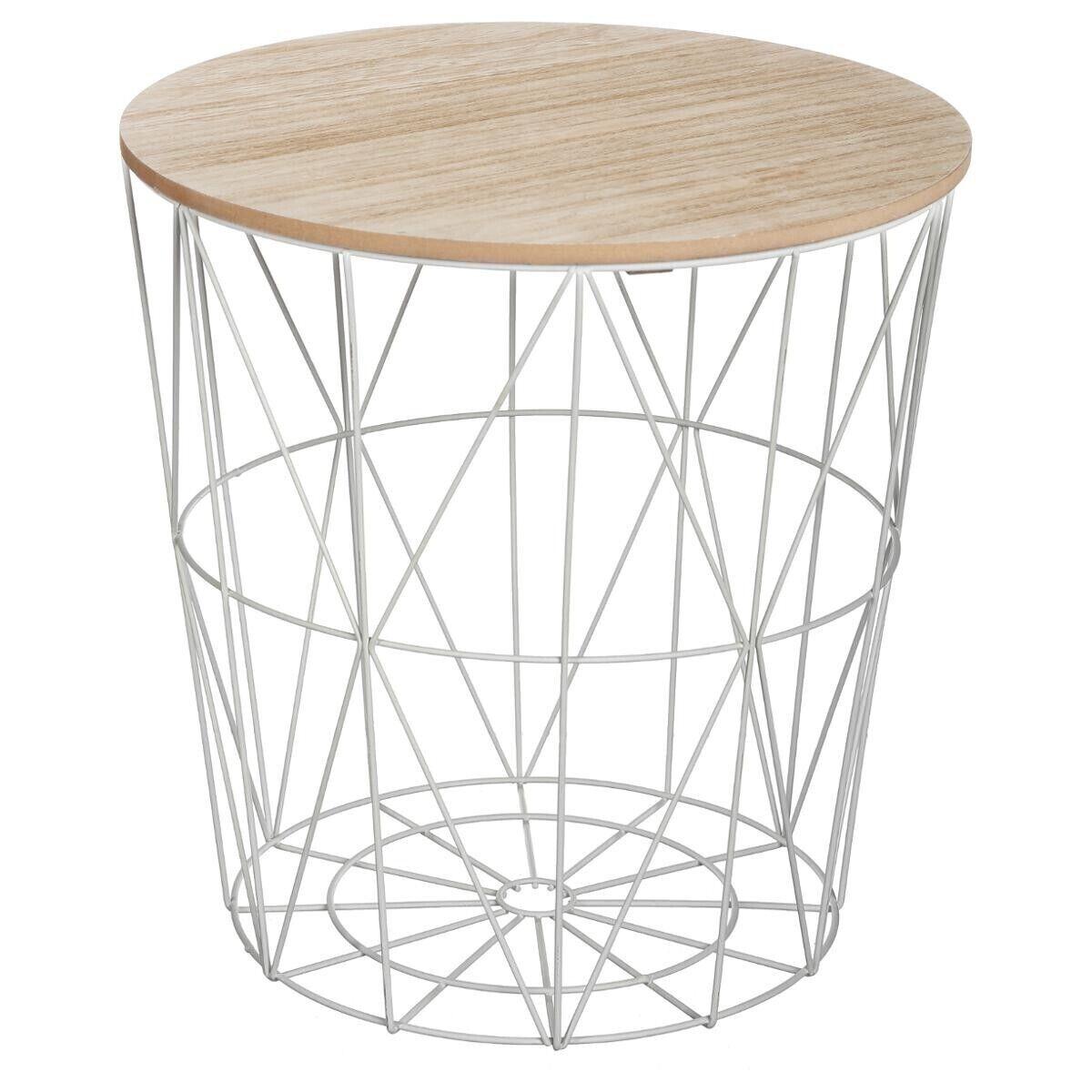 "Atmosphera Table à café Grise ""Kumi"" en métal Moyen modèle"