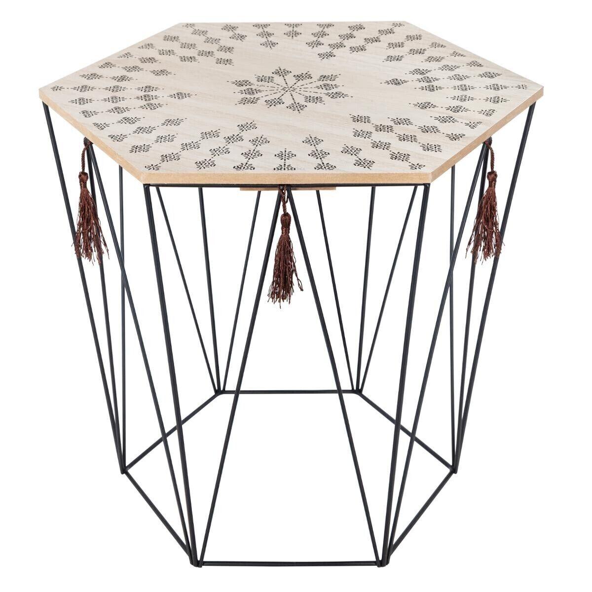 "Atmosphera Table de café octogonale ""Kumi"" en métal"