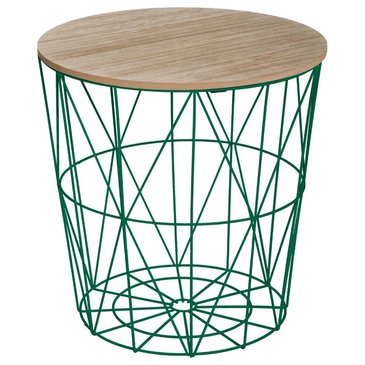 """Atmosphera Table à café Vert foncé """"Kumi"""" en métal Moyen modèle"""
