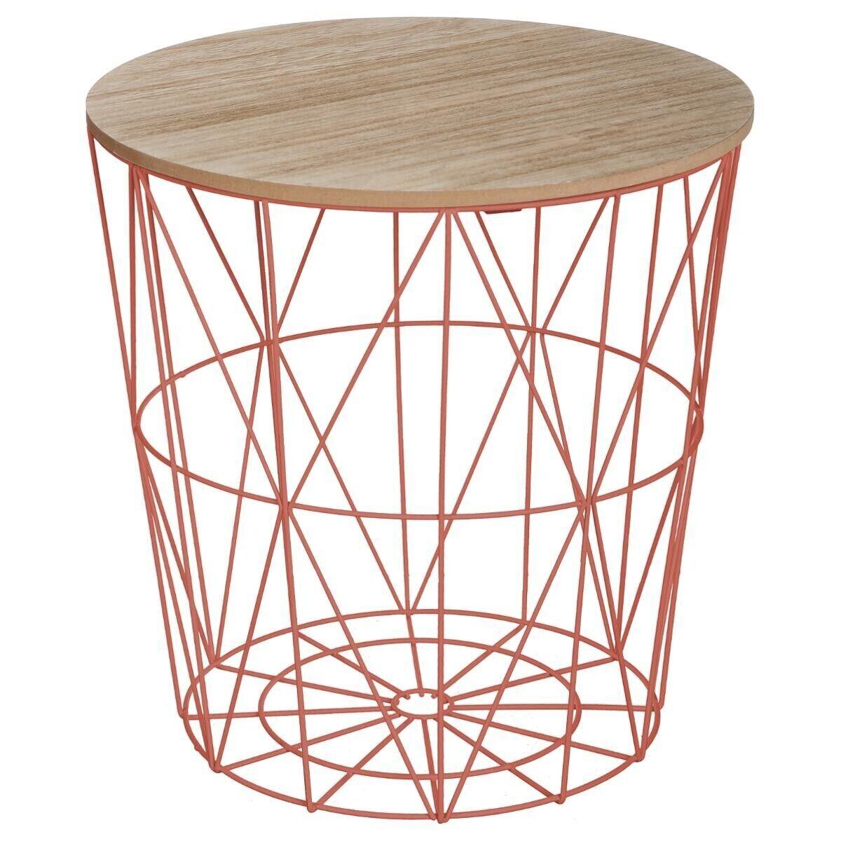 """Atmosphera Table à café Terracotta """"Kumi"""" en métal Moyen modèle"""