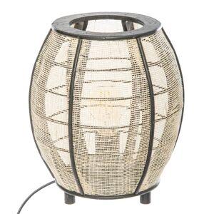 """Atmosphera Lampe """"Ipala"""", blanc et noir, bambou H27 cm - Publicité"""