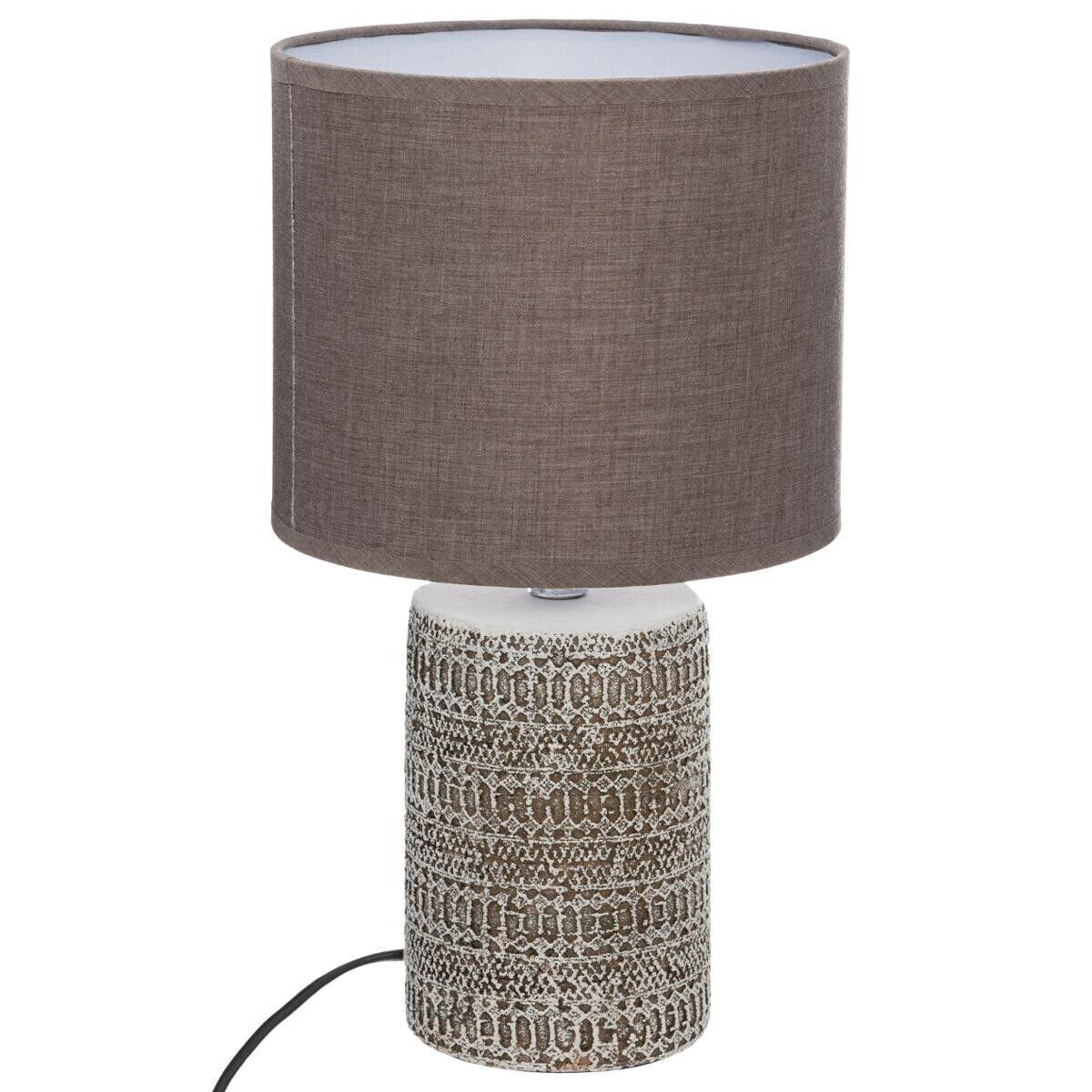 Atmosphera Lampe 'Melo' taupe, céramique H34 cm