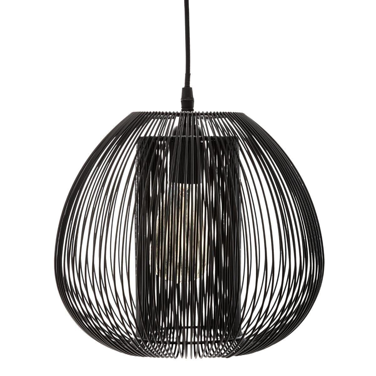 Atmosphera Suspension filaire 'Noda' noire, métal D28 cm