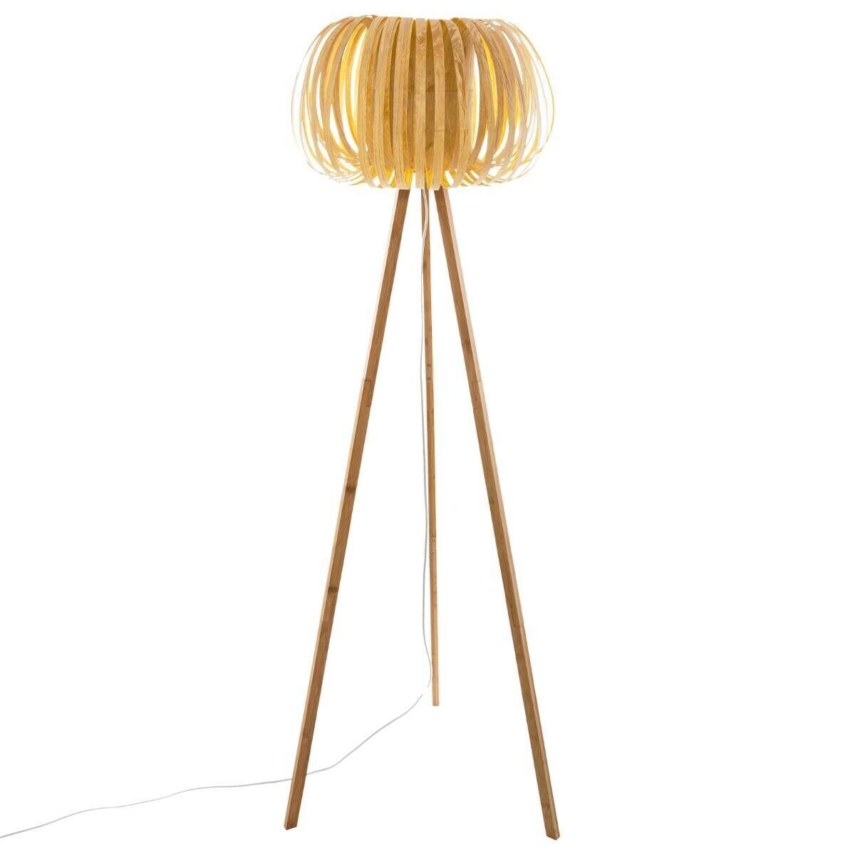 """Atmosphera Lampadaire trépied """"Sien"""", bambou H150 cm"""