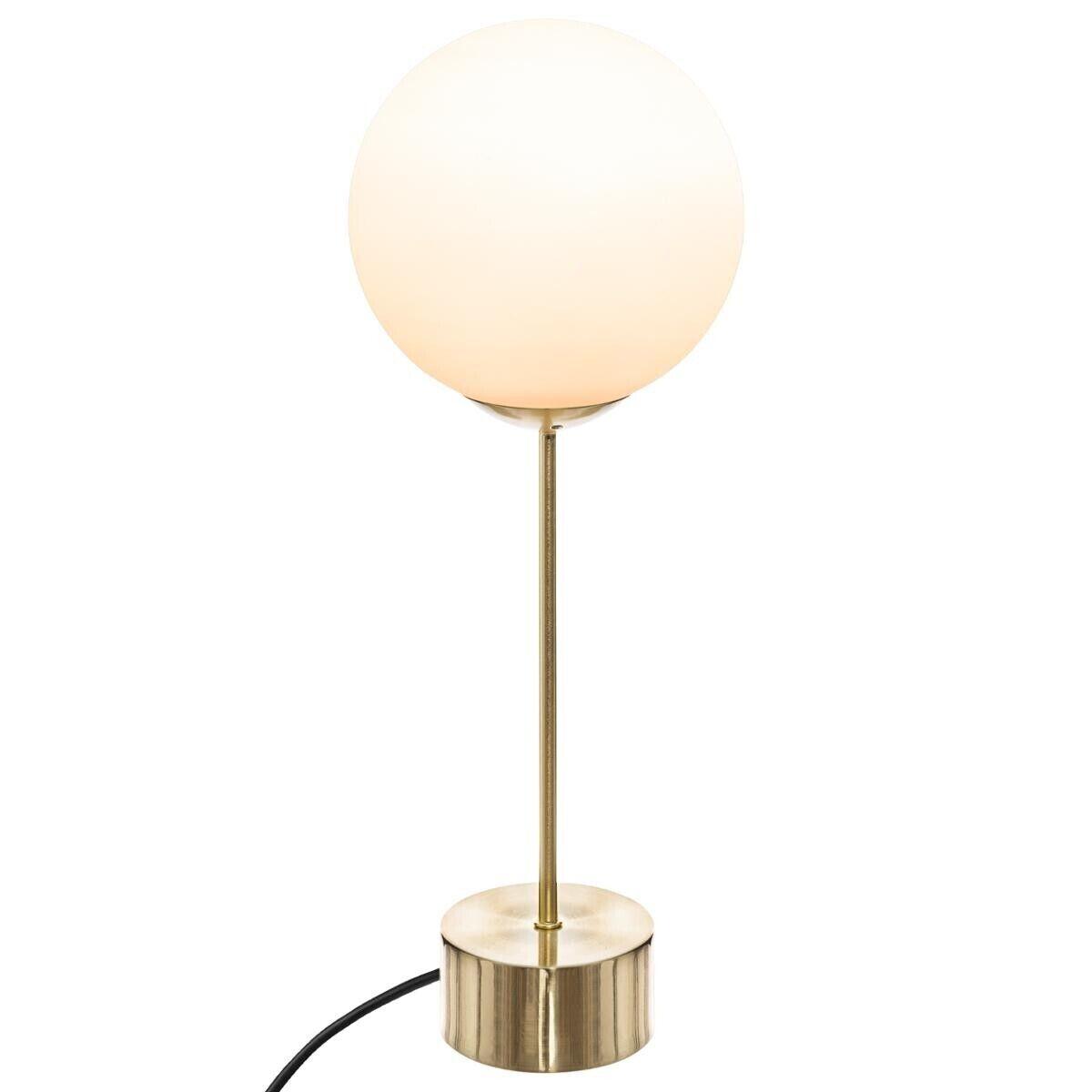 Atmosphera Lampe 'Dris' dorée, métal H43 cm