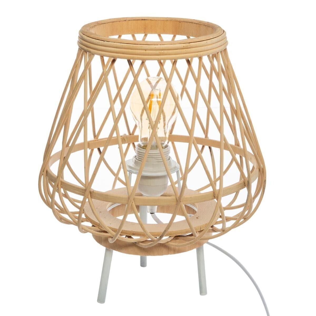 "Atmosphera Lampe mini trépied ""Mina"", bambou H31 cm"