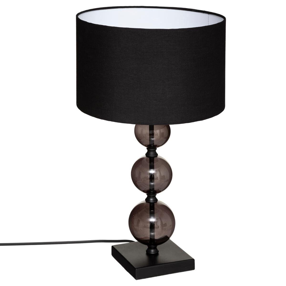 """Atmosphera Lampe """"Alma"""" noire, métal verre H52 cm"""