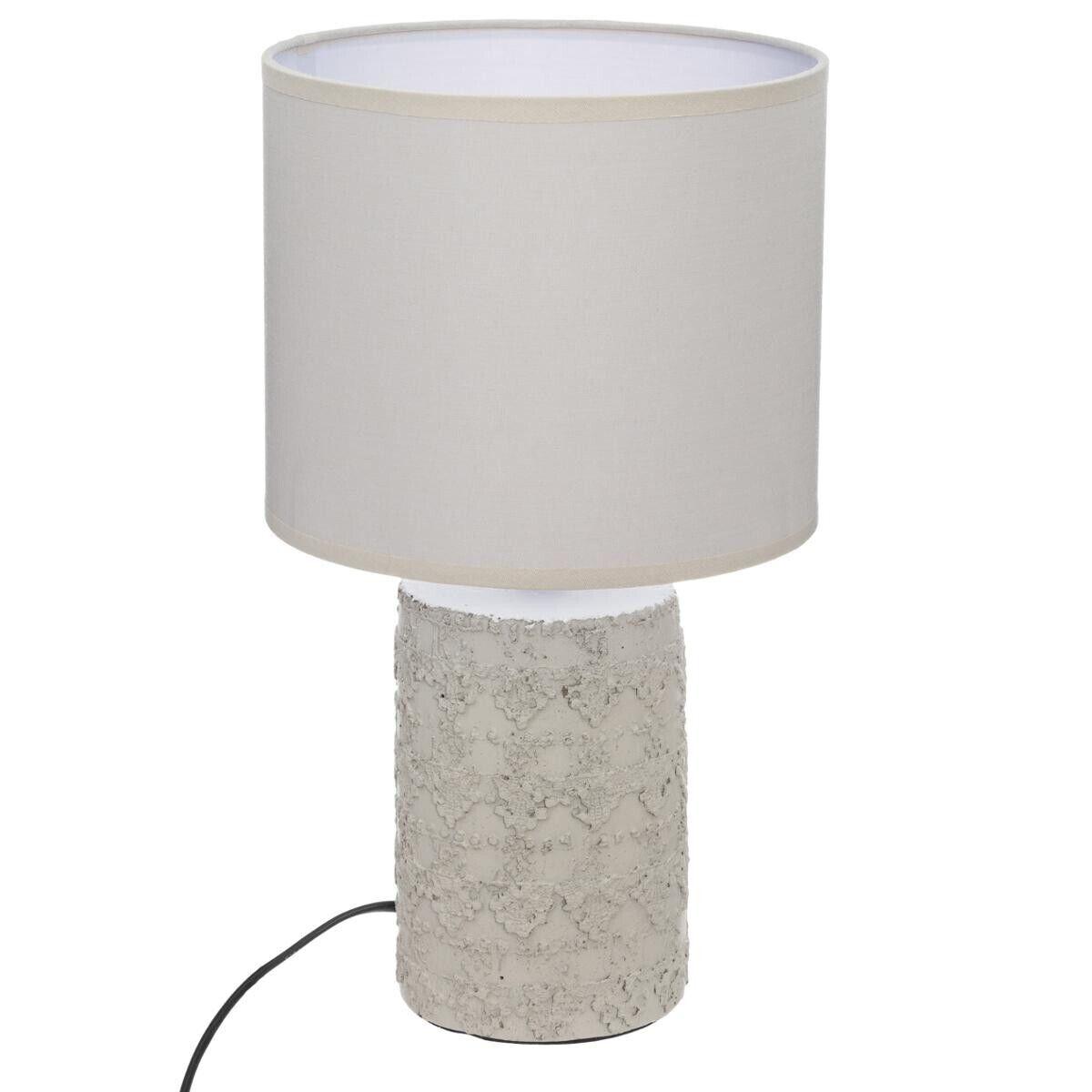 Atmosphera Lampe 'Melo', ivoire et blanc, céramique H34 cm