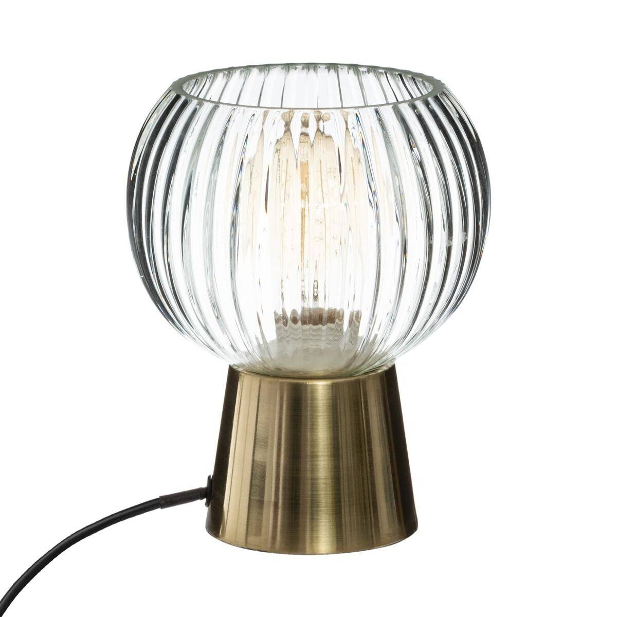 "Atmosphera Lampe transparente ""Laye"" en verre H19"
