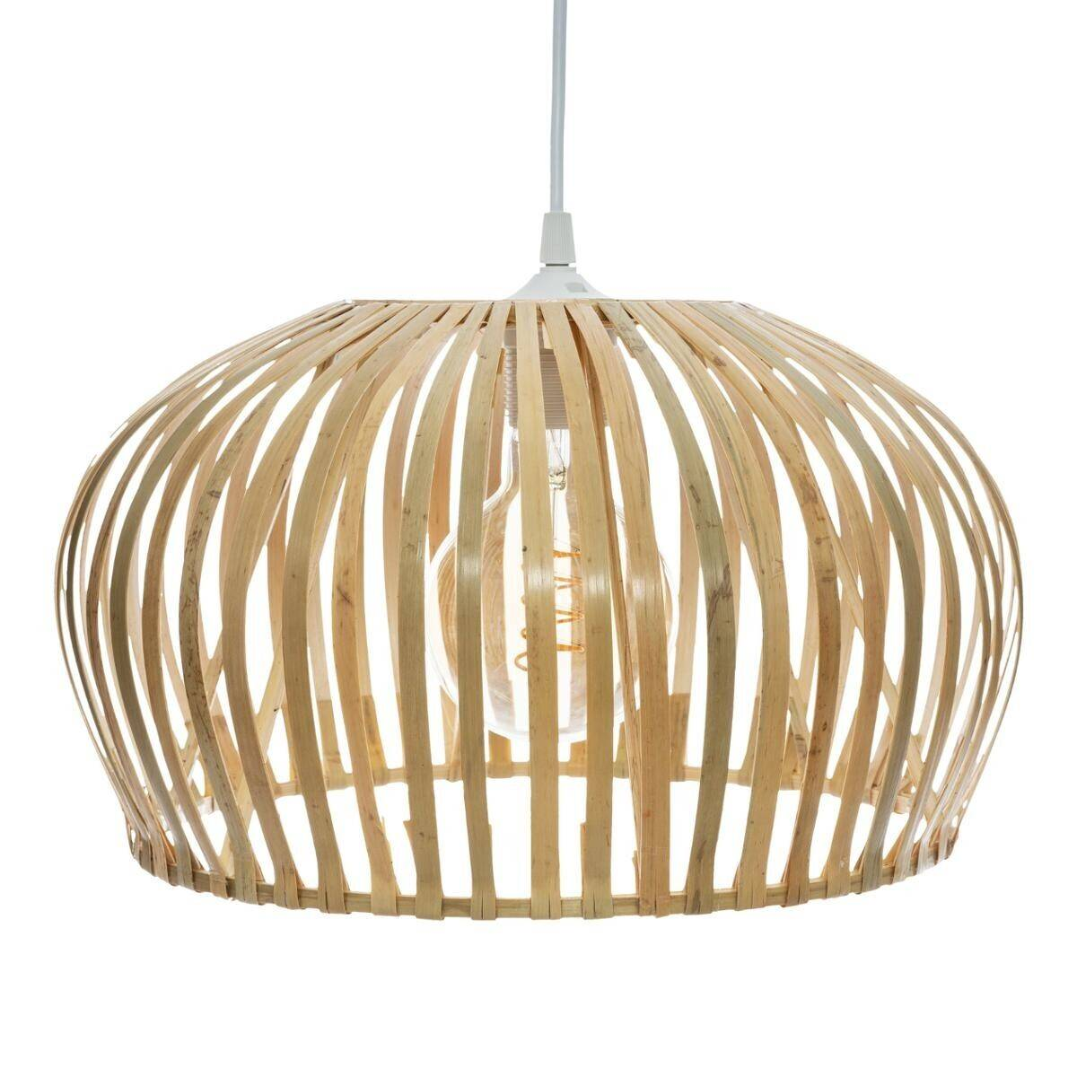"Atmosphera Suspension Naturel ""Ward"" en bambou D35"