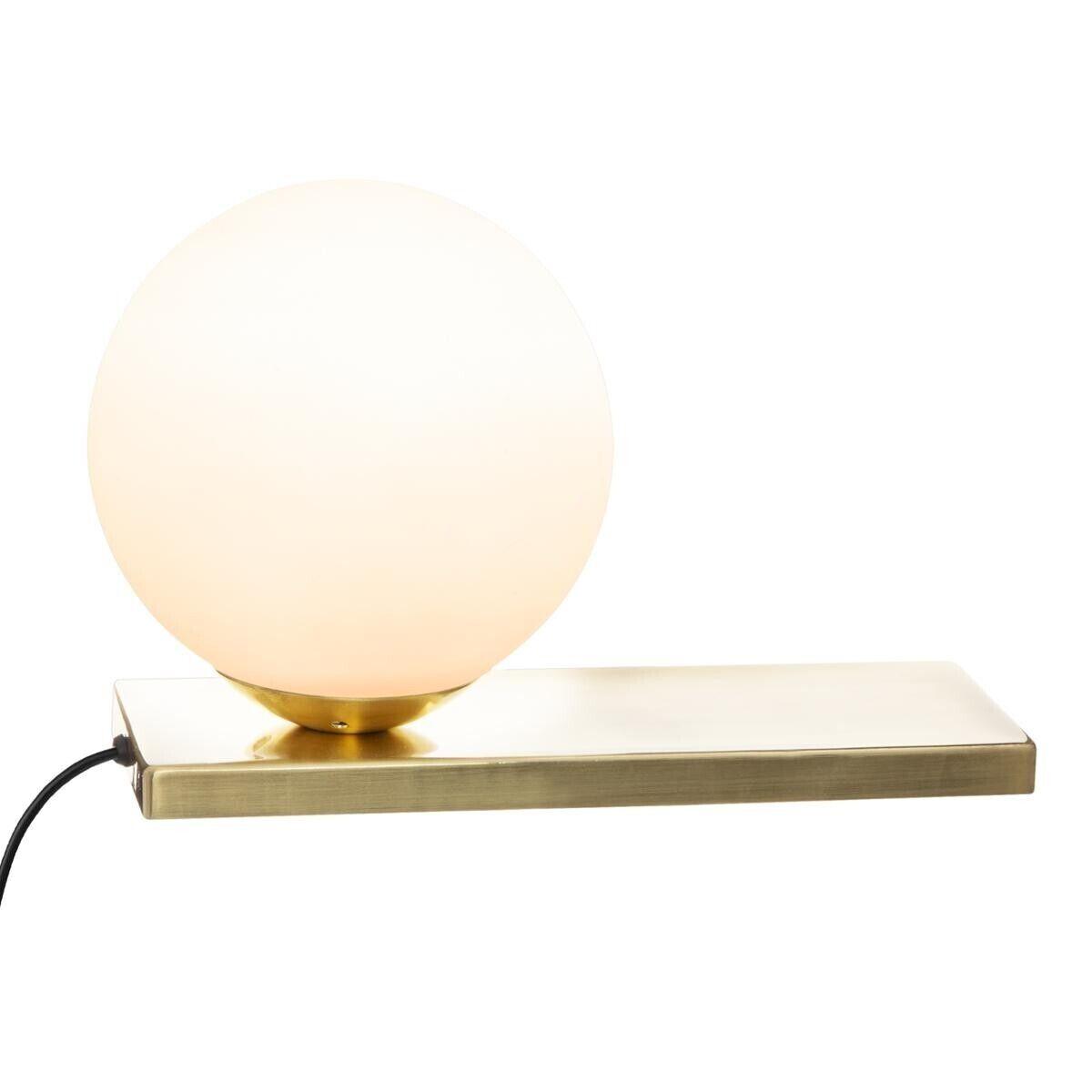 Atmosphera Lampe 'Dris' dorée, métal H17 cm