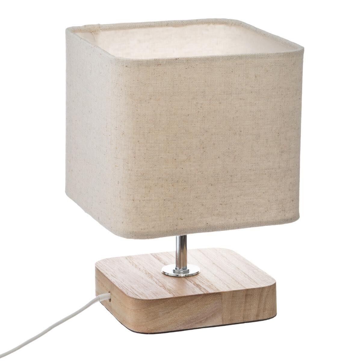 "Atmosphera Lampe à poser ""Toxey"" en bois H21"