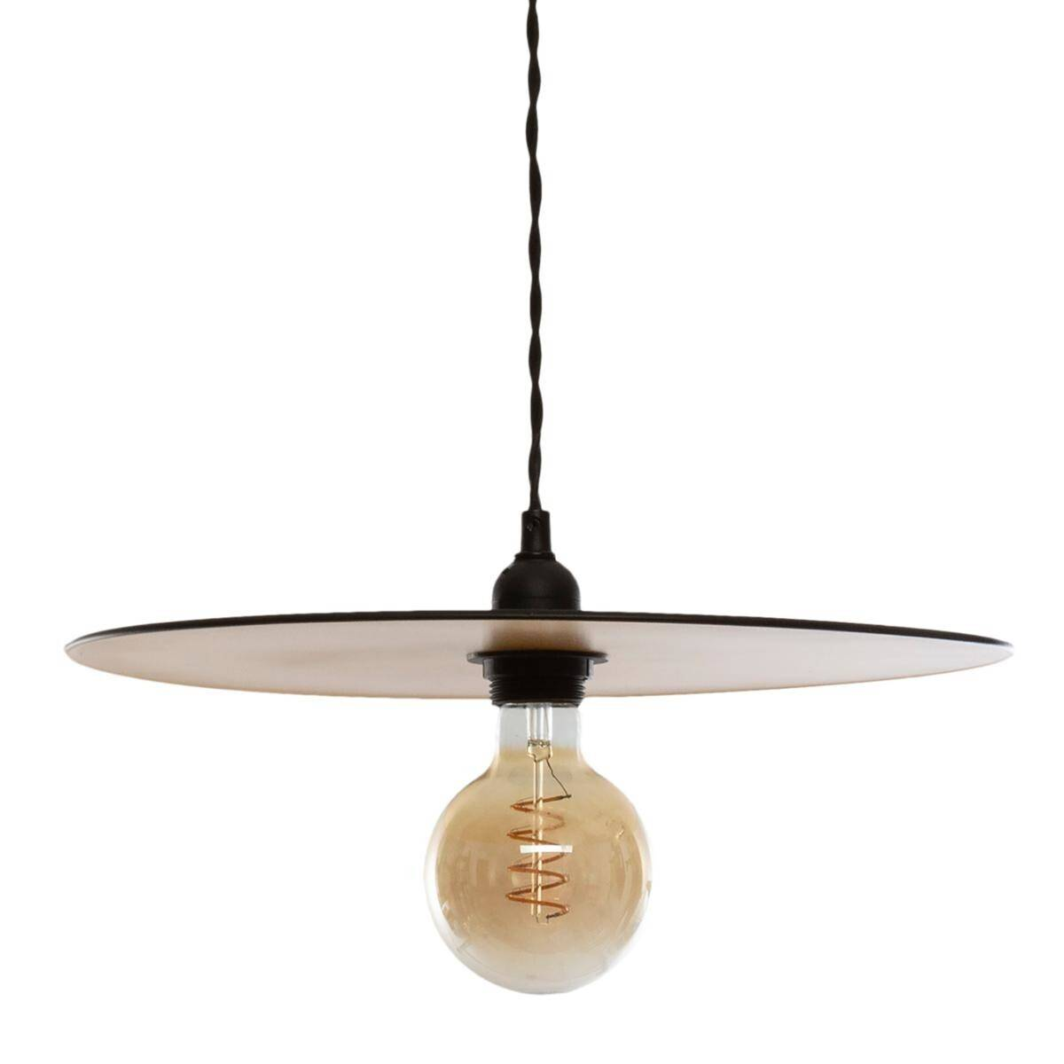 "Atmosphera Suspension Noire/Or ""Lesa"" en métal D38"