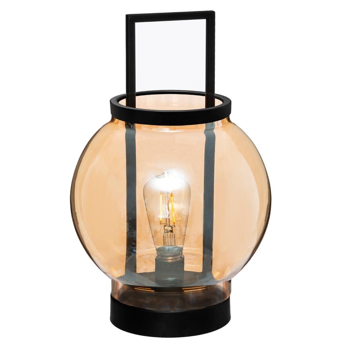 Atmosphera Lampe LED 'Orange', verre, ambre D19 cm