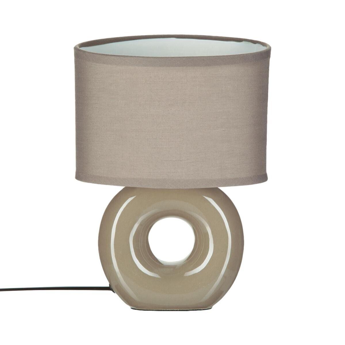 Atmosphera Lampe 'Baru', céramique H26 cm