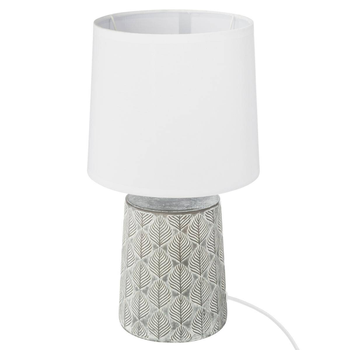 "Atmosphera Lampe ""Cyril"" cylindre en céramique H35,5"