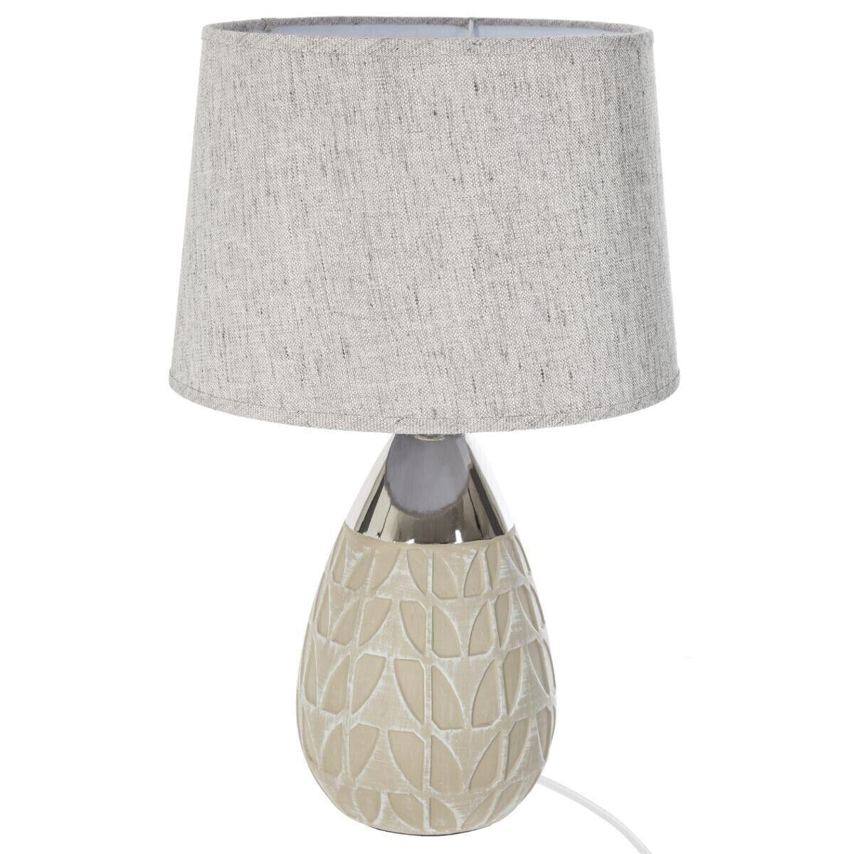 """Atmosphera Lampe """"Goutte"""", lin, céramique H46 cm"""