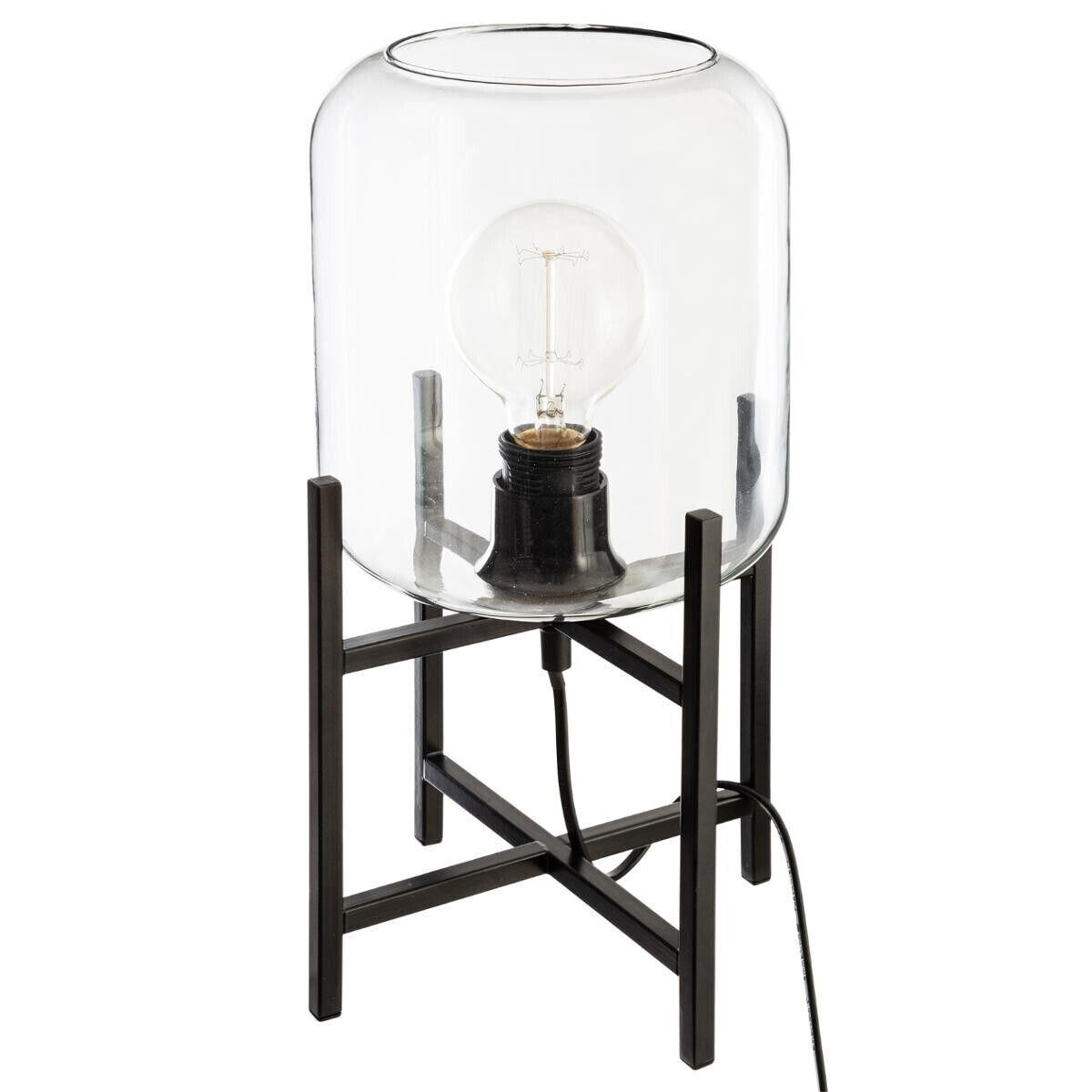 Atmosphera Lampe en métal verre H35
