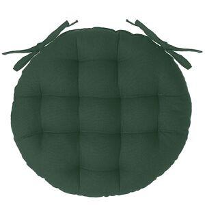 Atmosphera Galette de chaise ronde en coton vert cèdre D38 cm old_refs-2021_DTE Unisexe - Publicité
