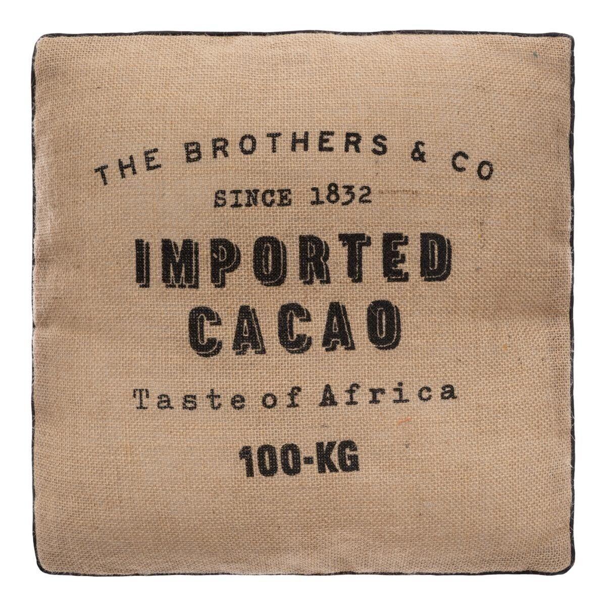 """Atmosphera Coussin de sol """"Cacao"""" en jute 40x40 cm old_refs-2021_DTE_AH2019_The colonial factory_OP6 Unisexe"""