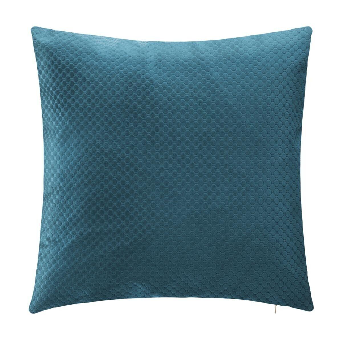 Atmosphera Coussin 'Bulle' en velours bleu 45x45 cm old_refs-2021_DTE Unisexe