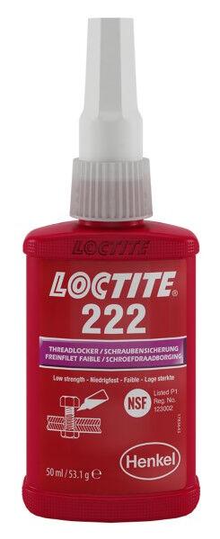 LOCTITE Frein filet faible LOCTITE 222 flacon 50ml - LOCTITE - 195743