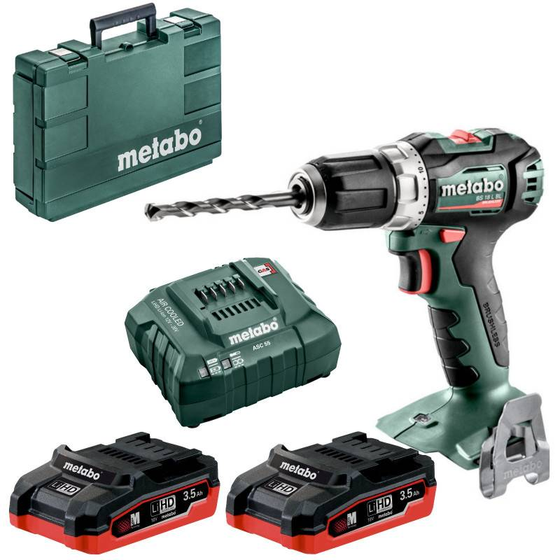 METABO Perceuse visseuse 18V BS 18L BL (2x3.5Ah) - METABO - 602326820