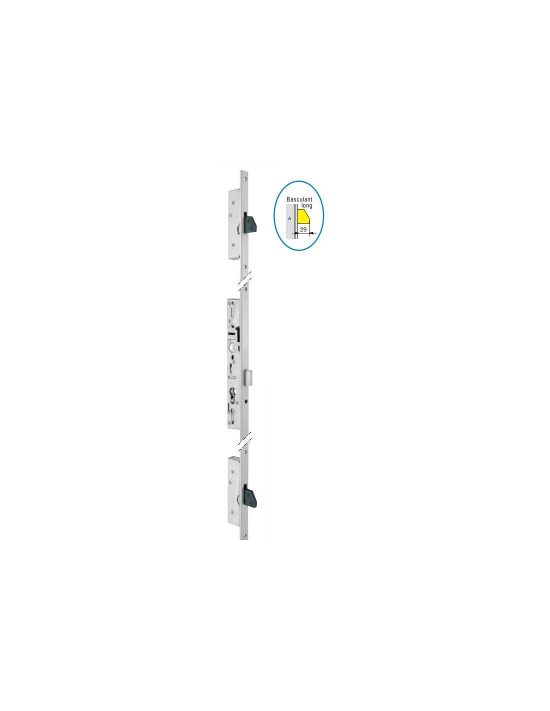 Serrure 3 points TF3 pêne dormant 45 mm têtière en U 24X6 - STREMLER - 6372.45.0A