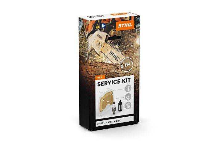 STIHL Kit d'entretien tronçonneuse MS 181 + MS 211 Service kit n°9 - STIHL - 1139-007-4100