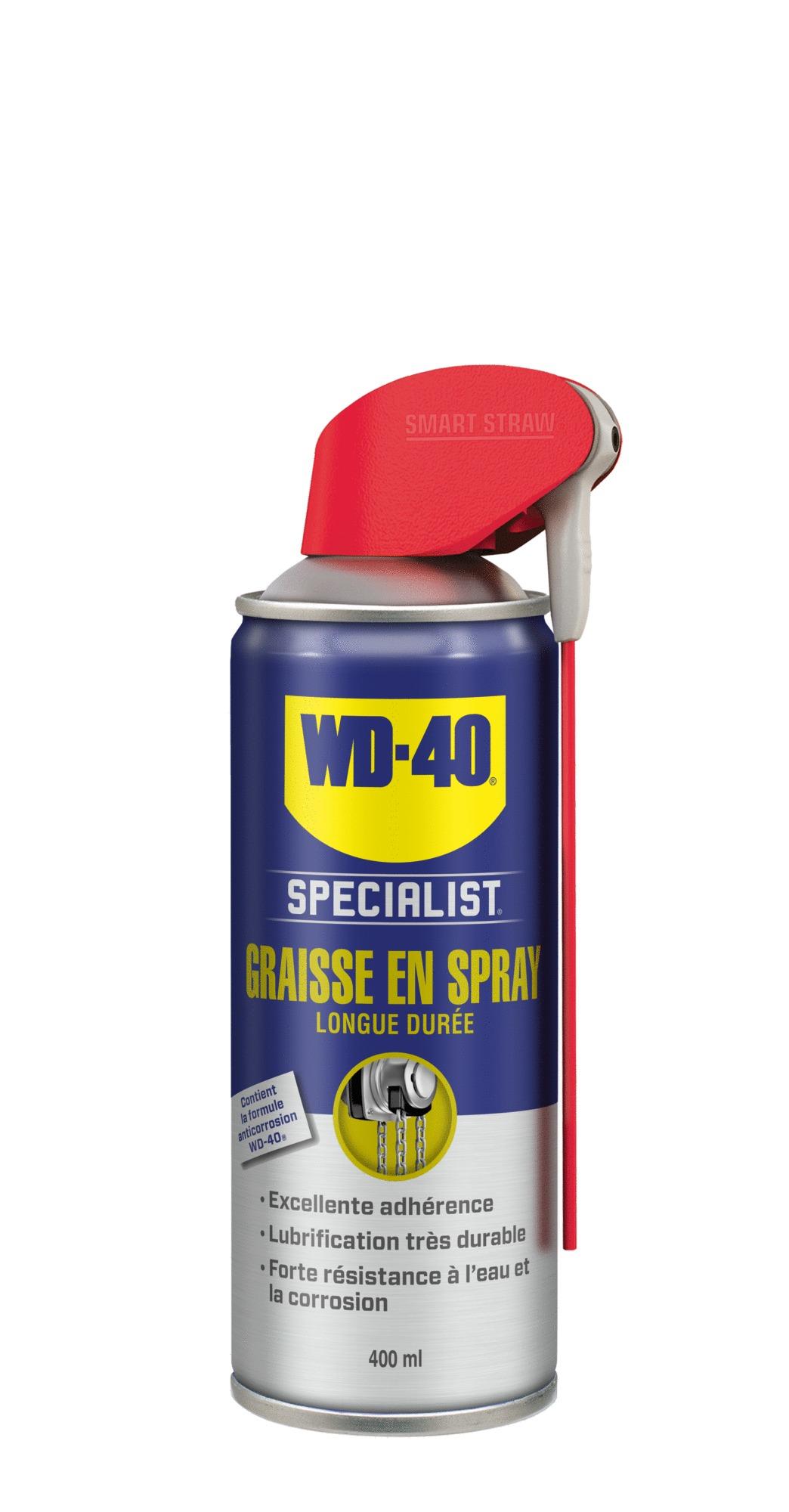 WD-40 SPECIALIST Graisse spray longue durée 400ML - WD-40 SPECIALIST PRO - 33217