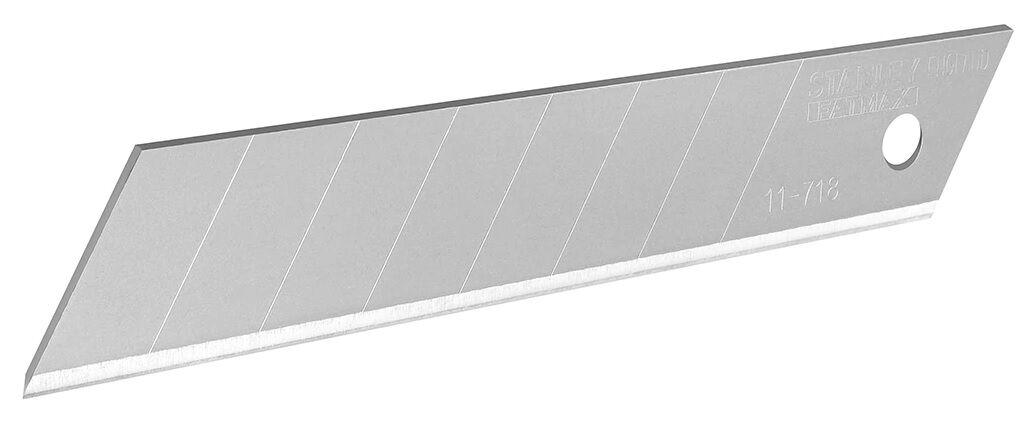 STANLEY 10 lames sécables de cutter 18 mm - STANLEY FATMAX - 2-11-718