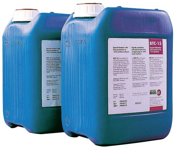 BINZEL Liquide de refroidissement BTC-15 5 L - ABICOR BINZEL - 192.0110