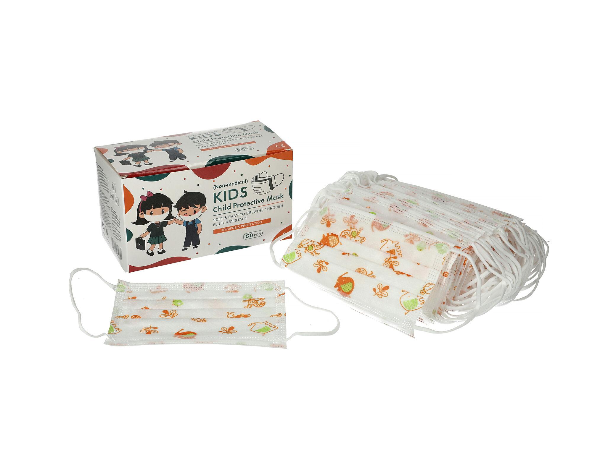 YINHONYUHE Masques enfants jetables 3 plis non médical boîte de 50 masques CE BFE > 95% - YINHONYUHE - MASQUES8
