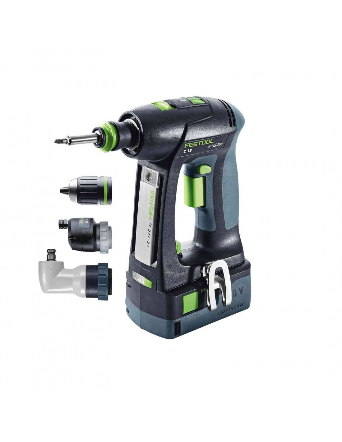 FESTOOL - Perceuse visseuse C18 LI 2X5.2Ah SET - 574739