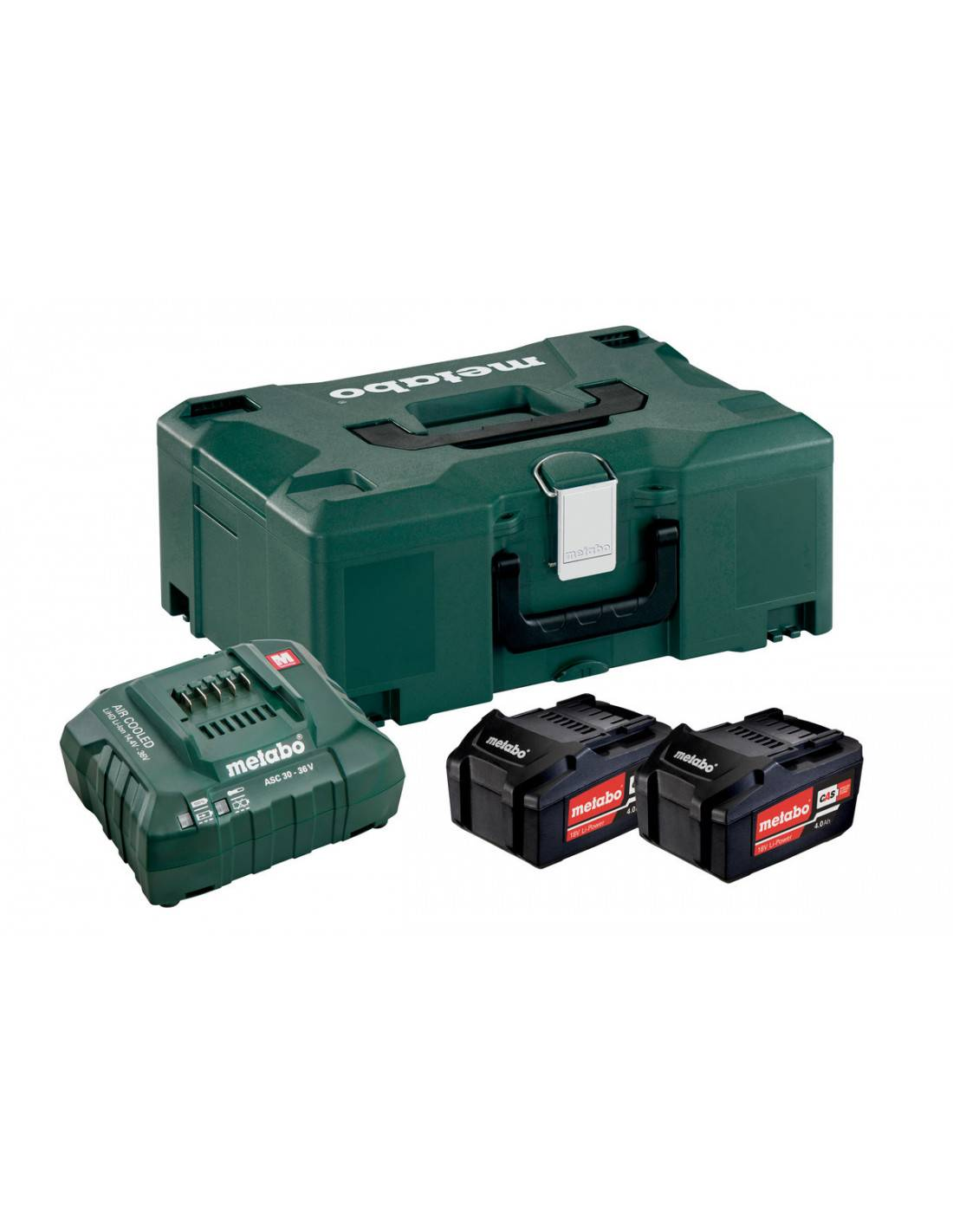 METABO - Pack 2 batteries 18V + 1 chargeur en coffret METALOC