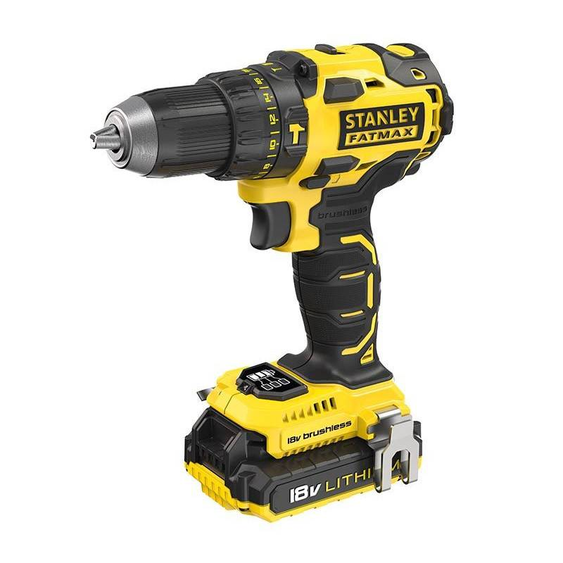 STANLEY FATMAX Perceuse visseuse à percussion brushless 18V (2x2AH) - STANLEY FATMAX - FMC627D2