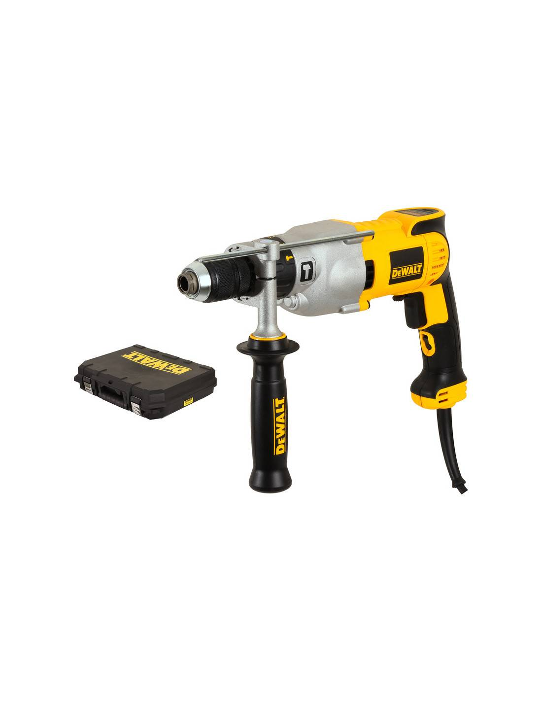 Perceuse percussion 1100W DEWALT mandrin 13mm en coffret standard DWD524KS