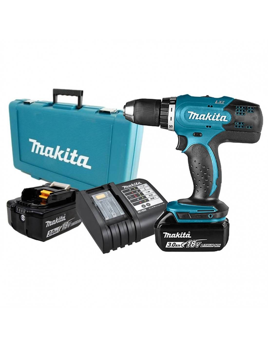 MAKITA - Perceuse visseuse 18V Li-Ion Ø 13 mm + 2 batteries 3AH - DDF453SFE