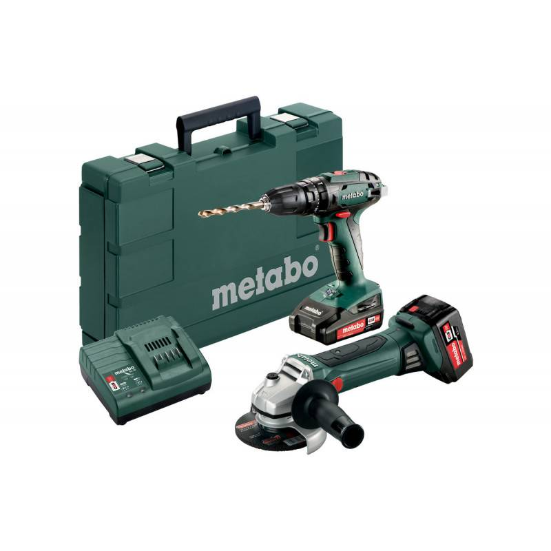 METABO Pack perceuse à percussion SB 18 et meuleuse d'angle W 18 LTX 125 Quick en coffret standard - METABO - 685089000