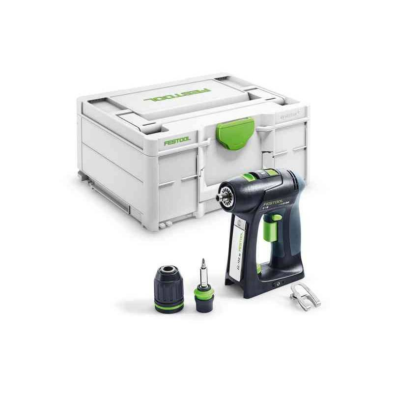 FESTOOL Perceuse-visseuse sans fil C18 Basic en coffret SYSTAINER - FESTOOL - 576434